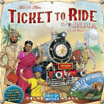 Ticket To Ride Map Collection India-Zwitserland, Days of Wonder, doos