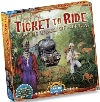 Ticket To Ride Map Collection The heart of Africa, Days of Wonder, doos