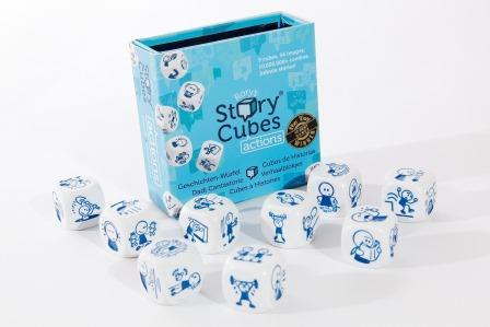 Rory's Strory Cubes - blauw, acties