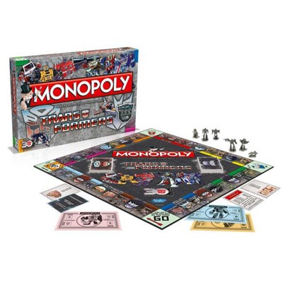 Monopoly Transformers Retro, speelbord