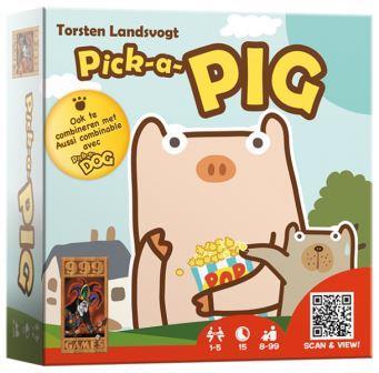 Pick-A-Pig, 999 Games, speelmateriaal
