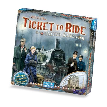 Ticket To Ride map Collection United Kingdom + Pennsylvania, doos