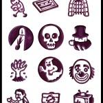 Rory's Story Cubes - Fright, afbeeldingen op de dobbelstenen