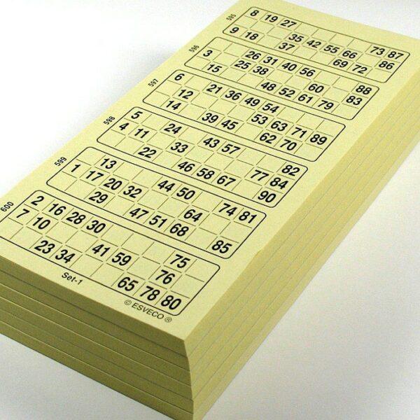 Bingokaarten / Kienkaarten