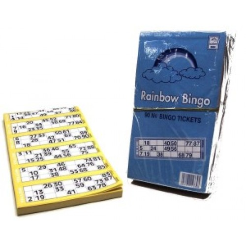 Rainbow Bingo - 600 tickets per pad
