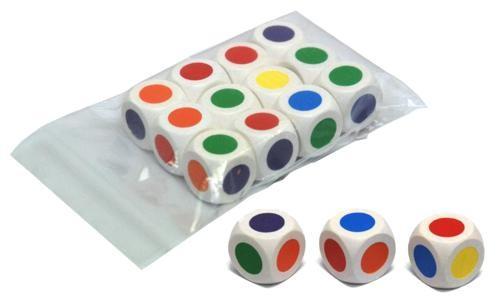 kleurendobbelsteen - 16mm