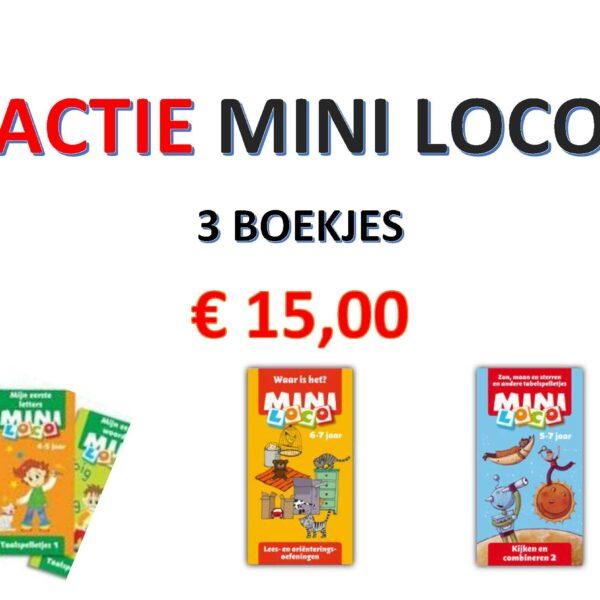 Actie mini loco - 3 boekjes
