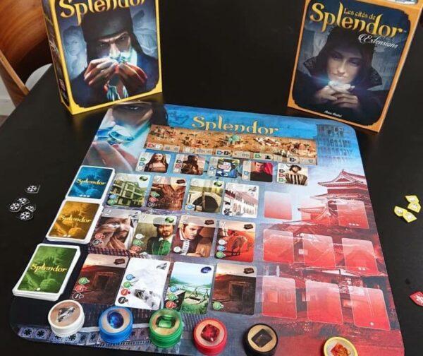 Splendor + cities + playmat