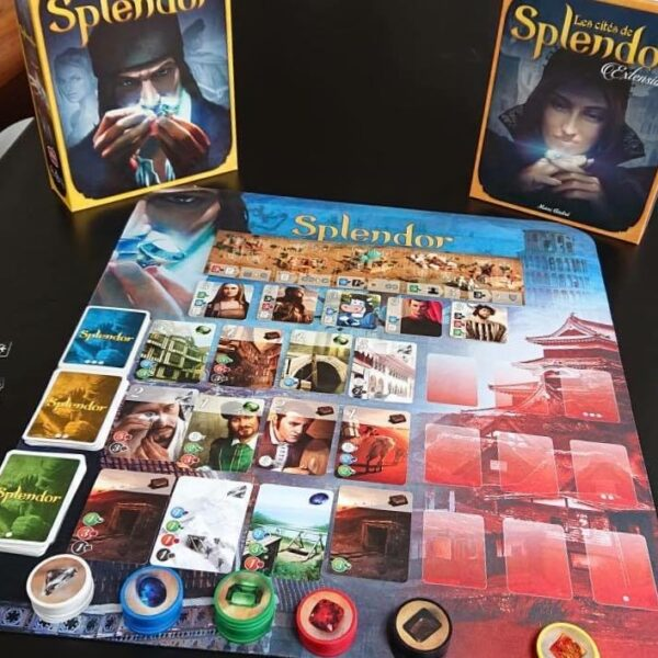 Splendor + cities + playmat