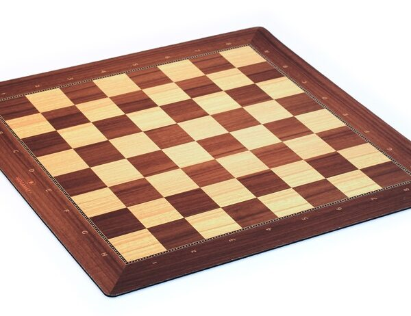Playmat chess wooden style